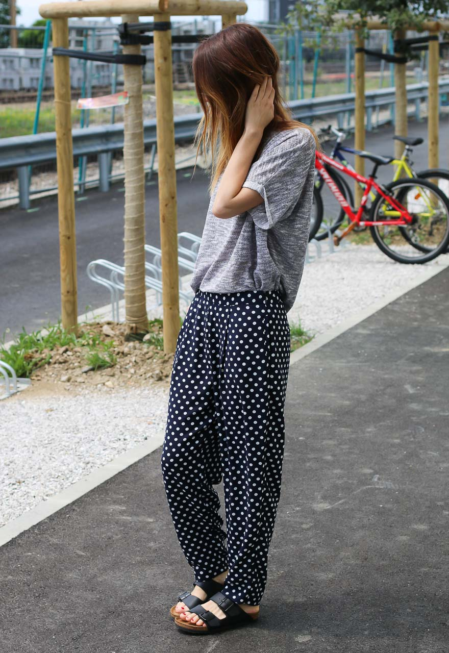 Connu Pantalon à pois & t-shirt gris – Ally Bing PR07