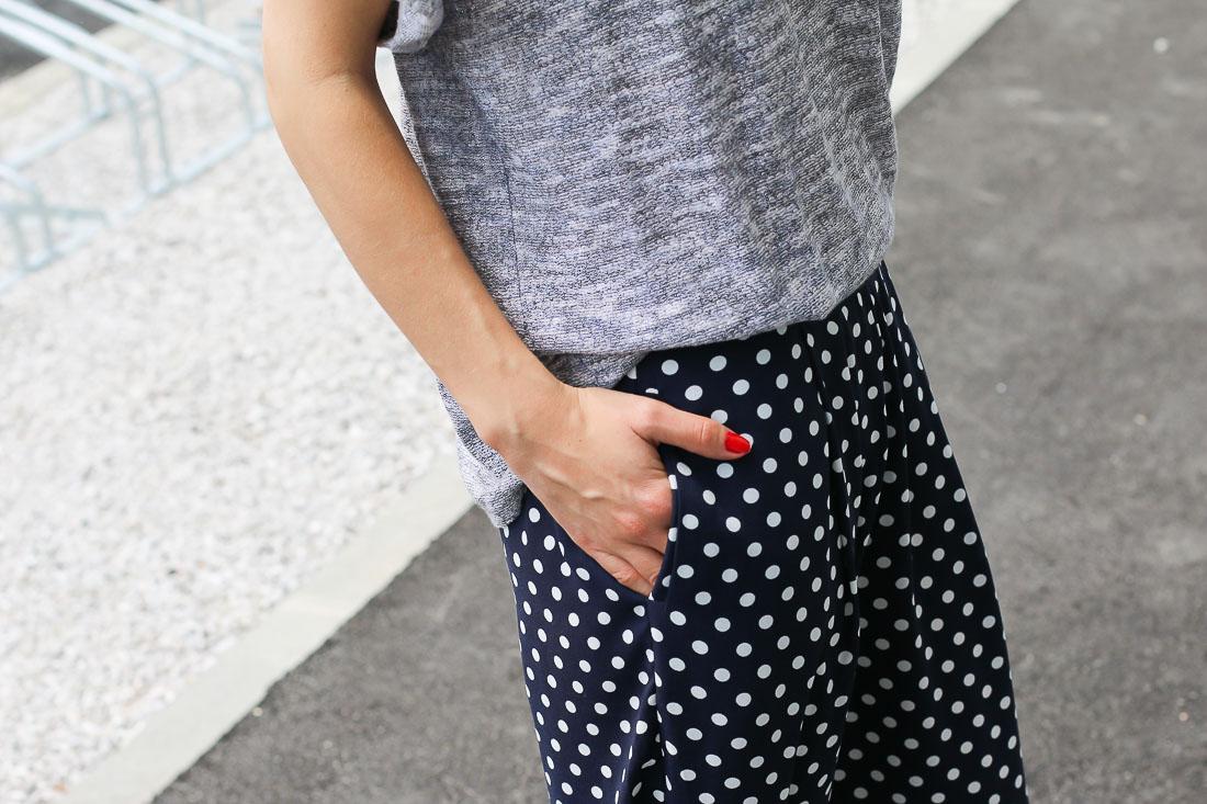 Préférence Pantalon à pois & t-shirt gris – Ally Bing ZD21