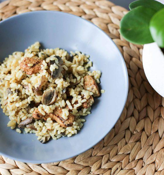 Émincé végétarien aux champignons, saveurs moutarde & estragon