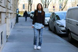 chemise-jeans-pull-fleurs-une