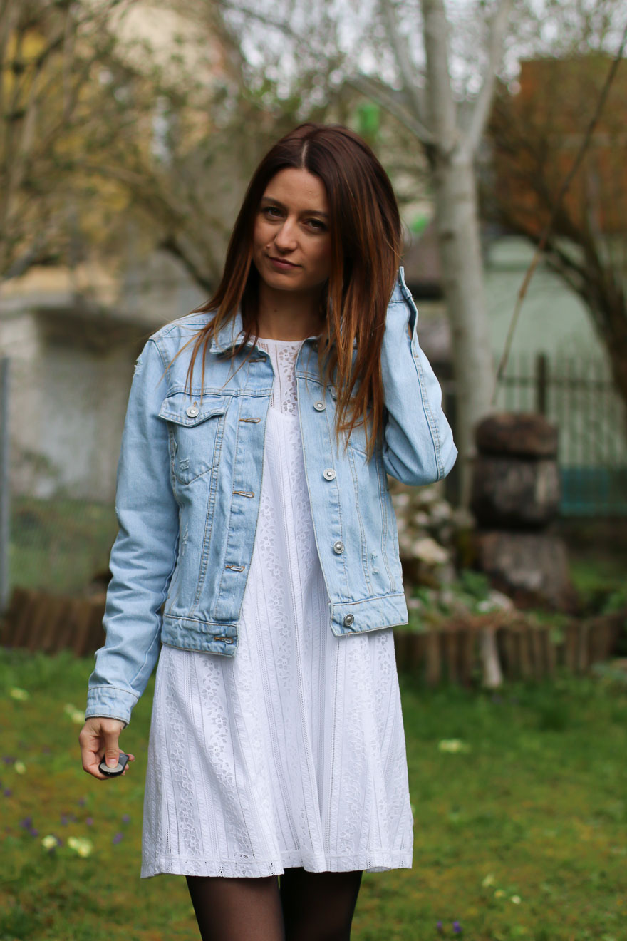 Robe En Jeans Veste Bing Blancheamp; Ally Petite PkuOTXZiw