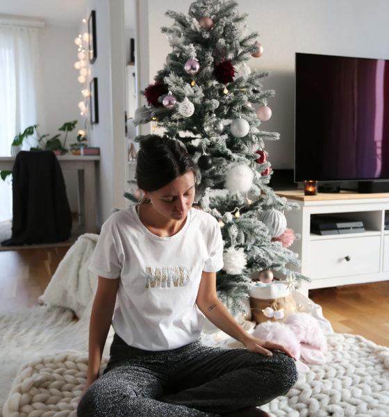 Les détails d'une tenue de Noël