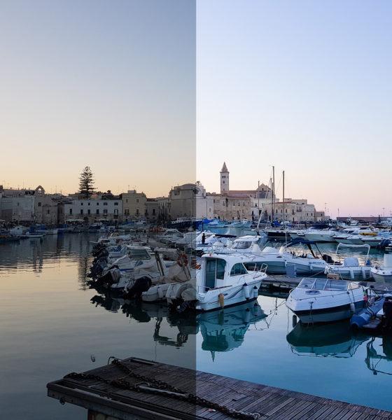 Retouche des images : avant / après